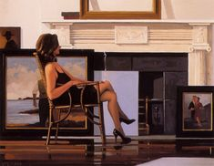 The Model and the Drifter.....Jack Vettriano