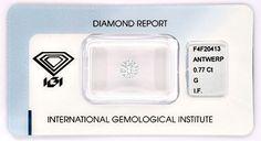 Diamant IGI Brillant 0,77 Lupenrein feines Weiss Juwel! - Diamanten unter…