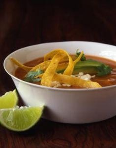 Chicken Tortilla Soup Recipe with Tomatoes