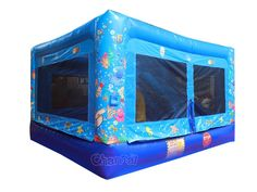 Small commercial inflatable bounce house with slide inside for small kids and toddlers. Bouncy House, Bouncy Castle, Bounce House With Slide, Inflatable Bounce House, Field Day, Tarpaulin, Ocean Themes, 1 Piece