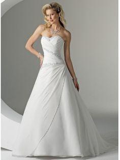 Belle Robe de mariée avec des paillettes