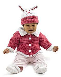 Image of Crochet Cute as a Bunny Set FREE PATTERN
