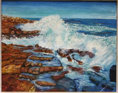 Signed A Ferris Oil B Maine Rocky Coastal Seascape in Original Frame 1940s, Maine, Coastal, Oil, Signs, The Originals, Frame, Painting, Ebay