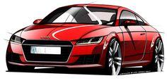 Audi TT Mk3 Design Drawing