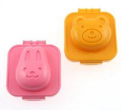 This is so adorable! Plastic Egg Mold, Rabbit and Bear by Kotobuki, http://www.amazon.com/dp/B002TZ04J6/ref=cm_sw_r_pi_dp_SAdgqb1H229T4