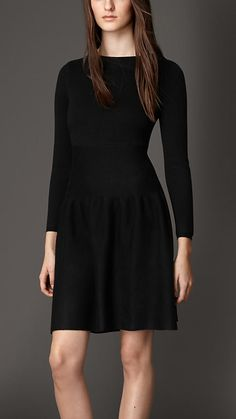 Burberry London Wool Cashmere Blend Dress