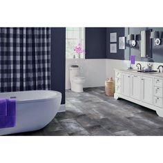 Vinyl flooring wide plank and planks on pinterest for Industrial stone vinyl tile