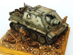 """1/72 Trumpeter """"early"""" Sturmtiger--this model won a Gold Medal at AMPS Atlanta in 2012 in """"Intermediate"""" class, and will be featured in the Ocober 2013 Finescale Modeler."""