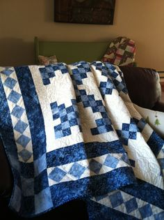 King size double Irish chain quilt 2011