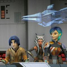 Rebels; Sabine, Ahsoka, and Ezra