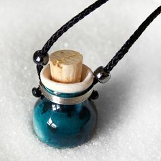 Teal, Valentine's Gift, For Women, Oil Diffuser, Essential Oils, Aromatherapy clay pot jewelry, clay diffuser necklace on Etsy, $20.00 CAD