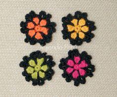 Motivos o pastillas 5 - Tejiendo Perú Crochet Daisy, Crochet Flowers, Free Crochet, Knit Crochet, Margarita Crochet, Crochet Stitches, Crochet Patterns, Crochet Garland, Pattern Pictures