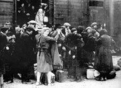 Auschwitz, unloading the train - from the Auschwitz Album