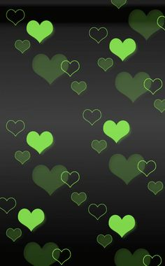 beautiful pictures of items in the color green   This is the lovely crazy beautiful green hearts Wallpaper, Background ...