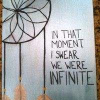 Dreamcatcher with Quote on canvas