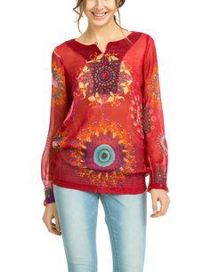 Desigual Better - Blouse - Taille normale - Manches longues - Femme: Amazon.fr: Vêtements et accessoires