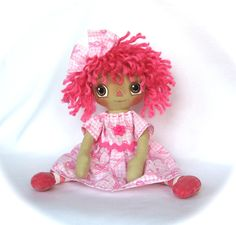 Primitive Raggedy Ann Doll, Breast Cancer Awareness