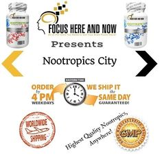 Nootropics for Sale! Come check out our March Madness Sale on ANY and EVERY nootropic supplement inside our very own Nootropics City at Focus Here and Now! The very best, GMP Certified,  Encapsulated nootropic supplements available anywhere, online!   http://focushereandnow.com/nootropics-for-sale