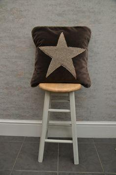 Brown Velvet Pillow Cover with piping , Star Design Pillow Cover,Decorative Pillow, Designer Pillow Classic Cushions, Velvet Material, Velvet Cushions, Designer Pillow, Star Designs, Brown Beige, Luxury Furniture, Decorative Pillows, Pillow Covers