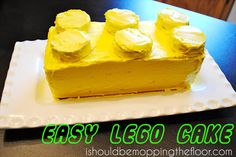i should be mopping the floor: {Ridiculously Easy} #Lego Cake
