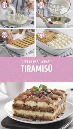 No Bake Desserts, Delicious Desserts, Dessert Recipes, Yummy Food, Wine Recipes, Mexican Food Recipes, Sweet Recipes, Tiramisu Recipe, Cupcake Cakes