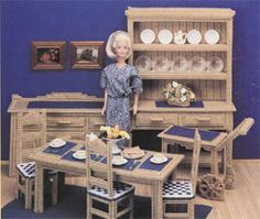 Dollhouse plastic canvas patterns| fashion doll house furniture patterns online