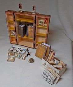 Dolls+House+Miniature+Darwinian+Filled+Trunk+/+by+UniqueMiniatures