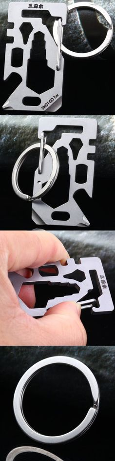 EDC Tools Sanrenmu GJ016D Multifunctional Tool Bottle Opener Key Ring for Home Outdoor Gadget