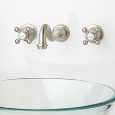 Ballantine Wall-Mount Bathroom Faucet - Cross Handles - Wall Mount Faucets - Bathroom Sink Faucets - Bathroom