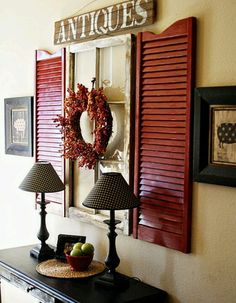 Shutters! with a window too... very country