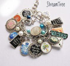A personal favorite from my Etsy shop https://www.etsy.com/listing/482166396/bible-verse-charm-bracelet-azulejo-tiles