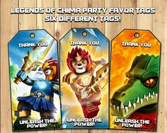 Legends of Chima Party Favor Tags - Download Print - Lego Legends of Chima Loot Bag Tags Lego Legends of Chima Tags Party Favour Thank You by InstantBirthday on Etsy