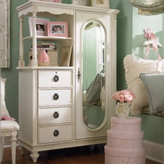 Emma's Treasures Mirror Door Chest. There's a little space for just about everything!