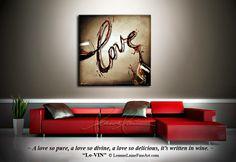 """""""Lo-VIN"""" by wine artist © Leanne Laine Fine Art #wineart #winepainting"""