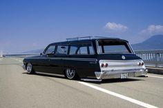 Chevy Impala wagon w/ roof rack 1962 Chevy Impala, 64 Impala, Station Wagon Cars, Automobile, Old Wagons, Sweet Cars, Us Cars, Car Car, Custom Cars