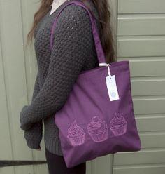 cupcake, gift, bag, shoulder bag, tote bag