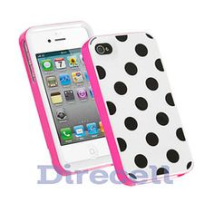 Polka Dot Gel Hard Case for #iPhone 4/4S    I MUST HAVE THIS