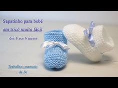 Easy knitting baby shoe from 3 to 6 months - Scarpa Baby Afghan Crochet, Baby Afghans, Crochet Baby Booties, Crochet Slippers, Baby Booties Knitting Pattern, Baby Hat Patterns, Baby Knitting Patterns, Knitting For Kids, Easy Knitting