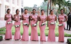 2019 African Nigeria Pink Cheap Mermaid Bridesmaid Dress Sheer Neck Lace Appliques Floor Length Maid of Honor Dress Party Gown African Bridesmaid Dresses, Mermaid Bridesmaid Dresses, African Wedding Dress, Bridesmaid Dresses Plus Size, Party Gowns, Wedding Party Dresses, Wedding Bridesmaids, Dress Party, African Dress