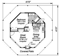 House Plan ID: chp-14581 - COOLhouseplans.com----This would be a neat design plan for a cordwood home.