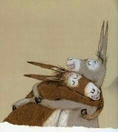 Capa Dura em Cingapura: Adelheid Dahimène e de Heide Stöllinger - children love donkeys Mini Donkey, The Donkey, Miniature Donkey, Wow Art, Children's Book Illustration, Hugs, Childrens Books, Illustrators, Cute Animals