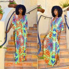 BAICLOTHING Kaftan Beach Cover Ups Tunics print Summer long Dress Bikini cover up Bohemia loose Moda Praia Vestido