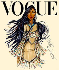 Pocahontas [Vogue] (Magazine Covers by HaydenWilliamsIllustrations @Facebook) #Pocahontas