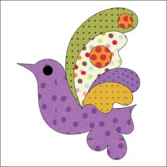 (7) Name: 'Quilting : Applique Add On - Bird Butterfly, Flower