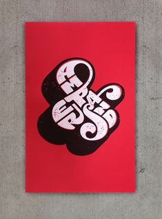 Self Referential Ampersand poster. Two color screenprint. 12x19