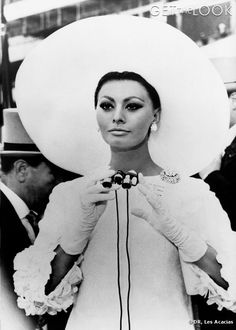 Sophia Loren In Christian Dior originals - 'Arabesque', 1966.