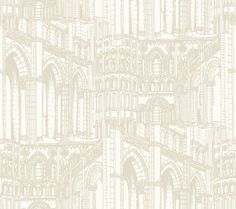 York Wallcoverings AM8636 Architectural Drawing Wallpaper White / Light Taupe Home Decor Wallpaper Wallpaper