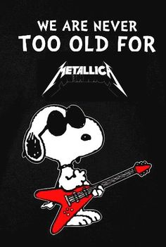 For everything Metallica check out Iomoio Music Love, Music Is Life, Rock Music, Metallica, Snoopy Love, Snoopy And Woodstock, Hard Rock, Rock N Roll, Heavy Metal