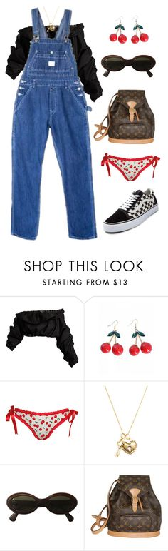 """Untitled #1398"" by lucyshenton ❤ liked on Polyvore featuring E L L E R Y, Dollydagger, Carelle, Moschino, Louis Vuitton and Vans"
