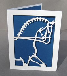 Dressage Horse Greeting Card Cut Paper Silhouette by arwendesigns, #hudsonvalley